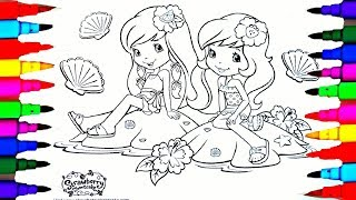 Learn Colors by Drawing Pages Strawberry Shortcake Strawberita Lemonita Coloring Pages