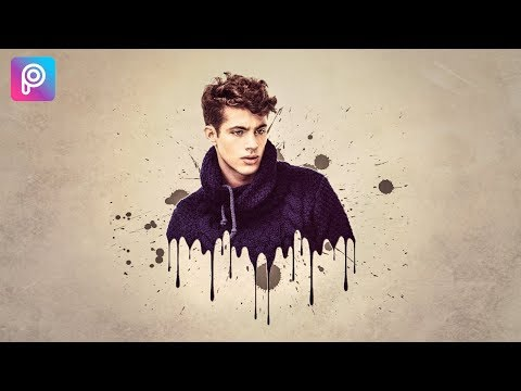 PicsArt Editing Tutorial | Dripping Effect | SPLATTER EFFECT PICSART | dispersion disintegration HD