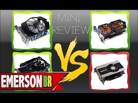 Mini Review - GTX 750 Ti vs R7 260X vs GTX 660 vs GTX 650 - PT-BR