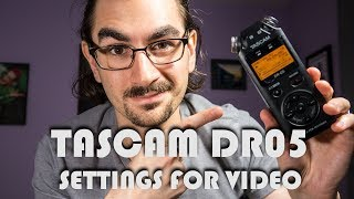 Tascam DR05 Tutorial & Settings for Video | Audio 101 for Video Creators