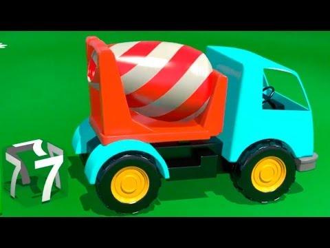 Çizgi film – İş Makineleri – Beton mikseri