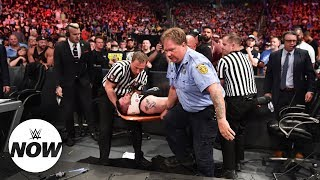 OMG! Kevin Owens thrown off steel cage by Braun Strowman: WWE Now