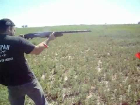 La escopeta Remington modelo 1100 autorecargable (semiautomática) 5 disparos en 1 segundo...