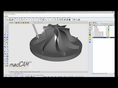 madCAM Simultaneous 5-axis Planar finishing.mp4