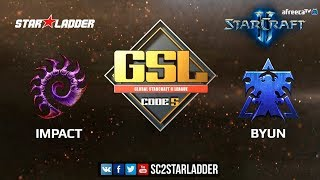 2018 GSL Season 3 Ro32, Group E, Match 2: Impact (Z) vs ByuN (T)