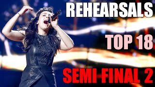 TOP 18 Rehearsals with COMMENTS: Semi Final 2 Eurovision 2016
