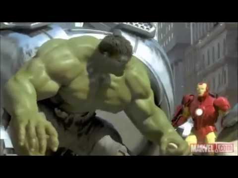 Iron Man.Spider-Man and the Hulk