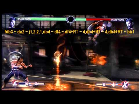MK9 Shang Tsung Combo Guide - 78% - 13 Fireballs - Xray - Enhanced Moves