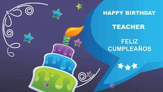 Teacher - Card Tarjeta_383 - Happy Birthday
