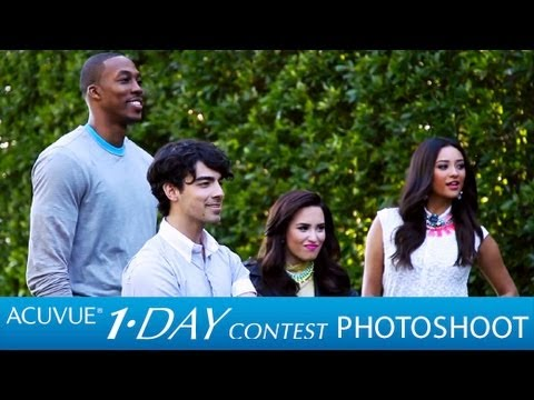 Demi Lovato & Joe Jonas at the 2013 ACUVUE® 1-DAY Contest Photoshoot