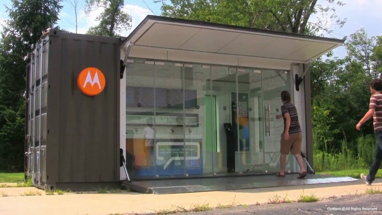 Motorola Container Shop - YouTube Modern Office With People