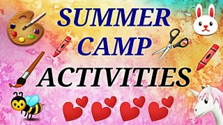Easy and Creative Summer camp activities for kids 2019 | DIY Fun Ideas.