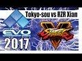 SFV EVO 2017 -Pools- TOKYO-SOU PONZAMAN (RASHID) vs RZR XIAN (IBUKI)
