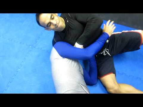 No Gi choke from the side position