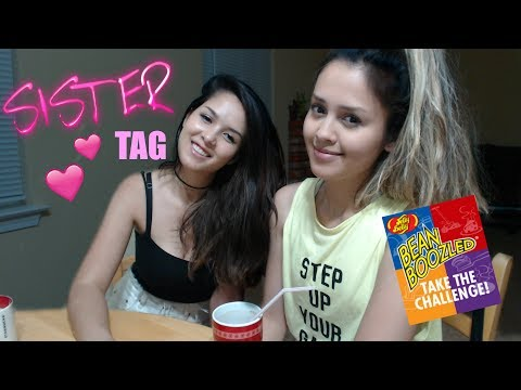 🔴 My SISTER TAG (BEANBOOZLED Jelly Beans Challenge)