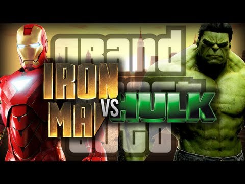 GTA 4: Iron Man VS Hulk! - (Funny Moments w/ Mods)