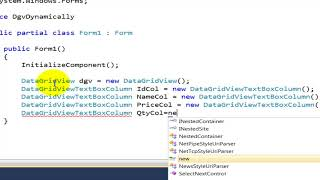 C#   Create Professional DataGridView dynamically with code   Part 01