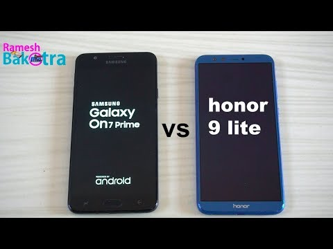 Samsung galaxy On7 Prime vs Huawei honor 9 lite Speed and camera Comparison