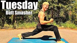 Tuesday - Sweaty Yoga Butt, Legs and Thighs Workout - Sean's 7 Day Fitness Challenge