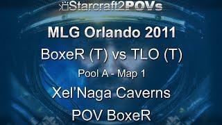 SC2 WoL - MLG Orlando 2011 - BoxeR vs TLO - Pool A - Map 1 - Xel'Naga Caverns - BoxeR