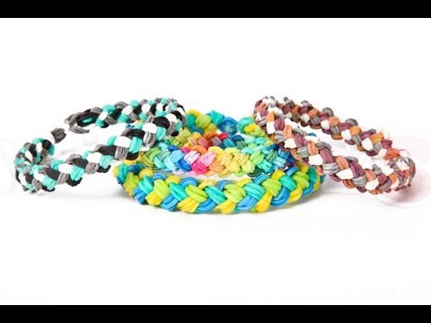 Mini Double Braid Bracelet Tutorial - ADVANCED Rainbow Loom Instructions