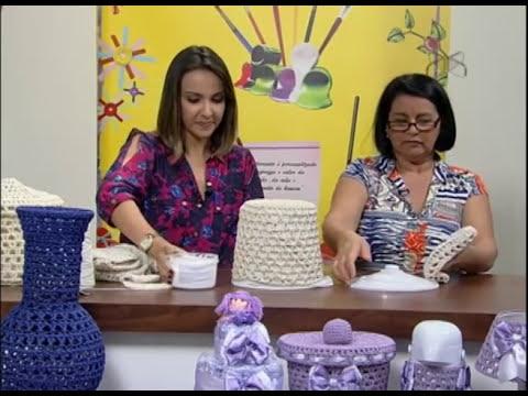 Mulher.com 25/09/2012 Carmen Freire - Cesto em Crochê endurecido 02