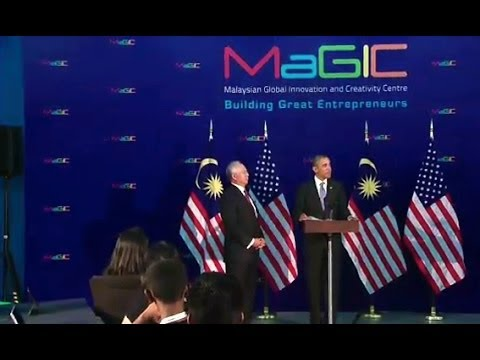 President Obama Speaks at the Malaysian Global Innovation and Creativity Center