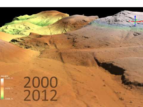 Animation of the evolution of the 1999 Hector Mine Earthquake surface rupture