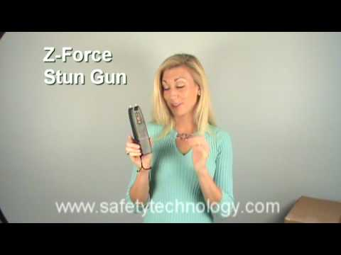Z-Force Slim Stun Gun - Demonstrates the Z-Force Slim being fired.
