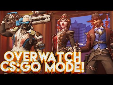 OVERWATCH NEW CS:GO ELIMINATION MODE CUSTOM GAMES!!