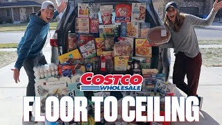 OUR MOST EXPENSIVE COSTCO HAUL EVER! GROCERY SHOPPING WHILE UNDER THE INFLUENCE OF HUNGER