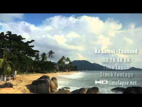 Ko Samui, Thailand - HD 2K 4K Video Time Lapse Stock Footage Royalty-Free