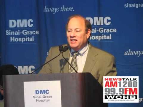 DMC Breaks Ground At Sinai-Grace- CEO Mike Duggan Speaks