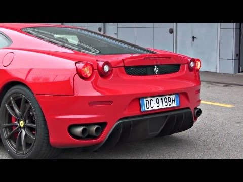 Ferrari F430 with Straight Pipes Exhaust INSANE SOUND!!