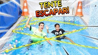 TENTE ESCAPAR DA PISCINA! - KIDS FUN