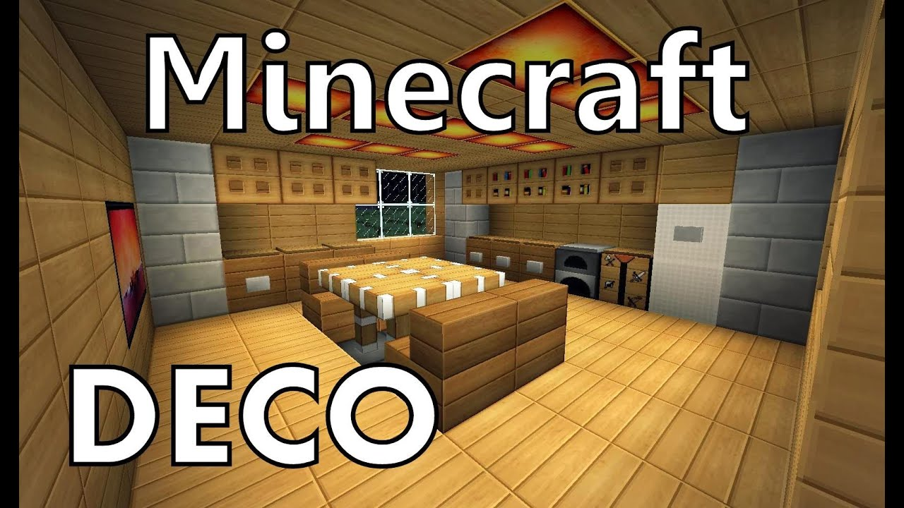 minecraft comment cr er une belle cuisine youtube. Black Bedroom Furniture Sets. Home Design Ideas