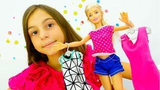 Игры для детей. Барби и профессия модельера. Видео с игрушками от подружки Вики.