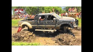 Monster Ford Dually Digs in Slough Challange.. Does He Make It.
