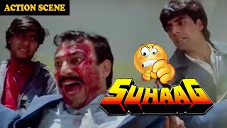 Akshay Kumar & Ajay Devgan Take Revenge From Rai Bahadur || Fight Scene From Movie Suhaag
