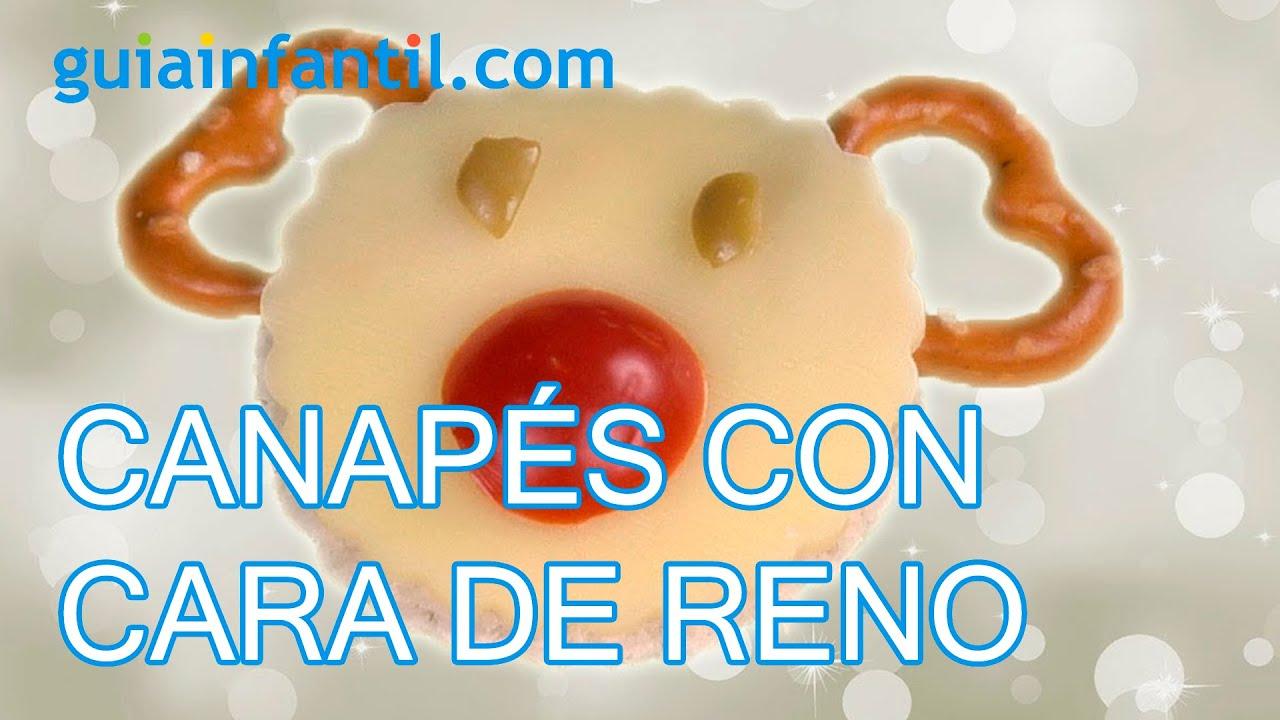 Canap s con cara de reno recetas para navidad youtube for Recetas para canape