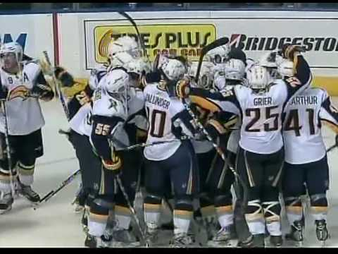 10/24/09 Buffalo Sabres at Tampa Bay Lightning - Tyler Myers Shootout Winner Video
