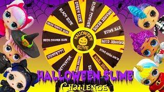 LOL Mystery Wheel Of Slime HALLOWEEN Challenge Boys VS Girls