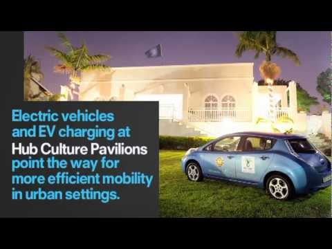 Nissan Leaf at Hub Culture Pavilion Durban