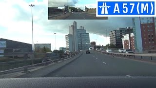 A57(M) - Mancunian Way - Front View With Rearview Mirror