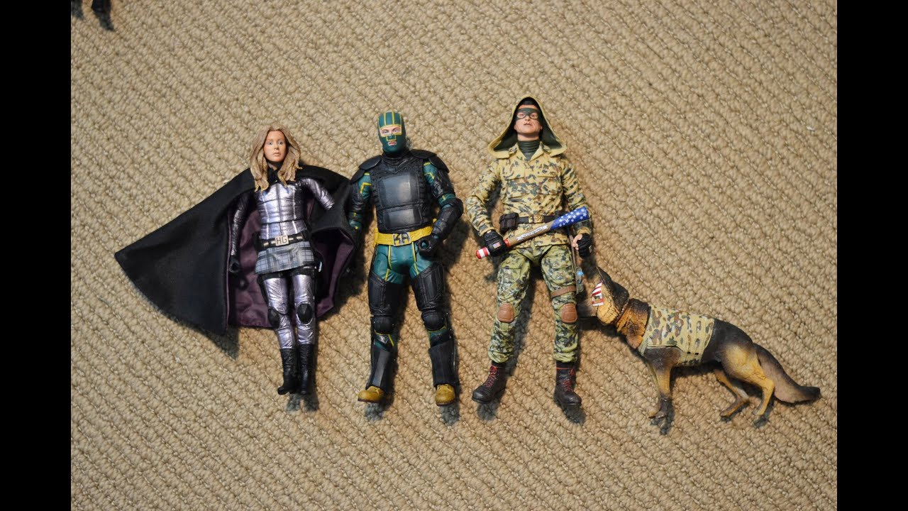 "Neca 7"" KICK ASS 2 series 1 & 2 FIGURE review unboxing ..."