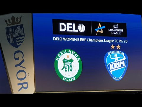 Győri AUDI ETO KC - RK Krim Mercator BL mérkőzés elött a játékosok bemutatása