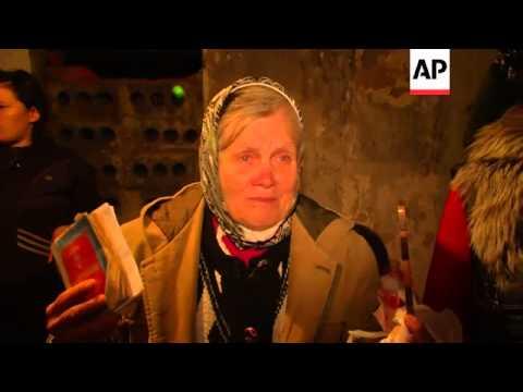 Civilians seek shelter in Slovyansk basement as fighting intensifies