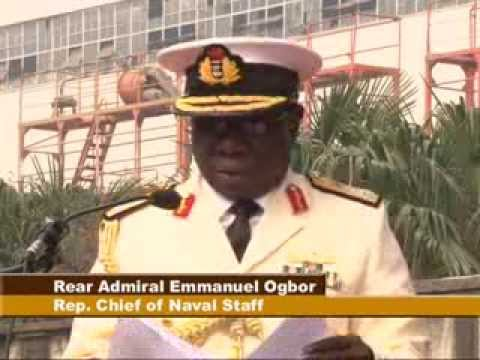 FIRST LADY LAUNCH NIGERIAN NAVY OFFSHORE PATROL VESSEL OPV-F91