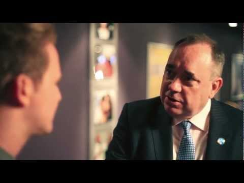 First Minister Alex Salmond interview at the Yes Scotland Launch 2012