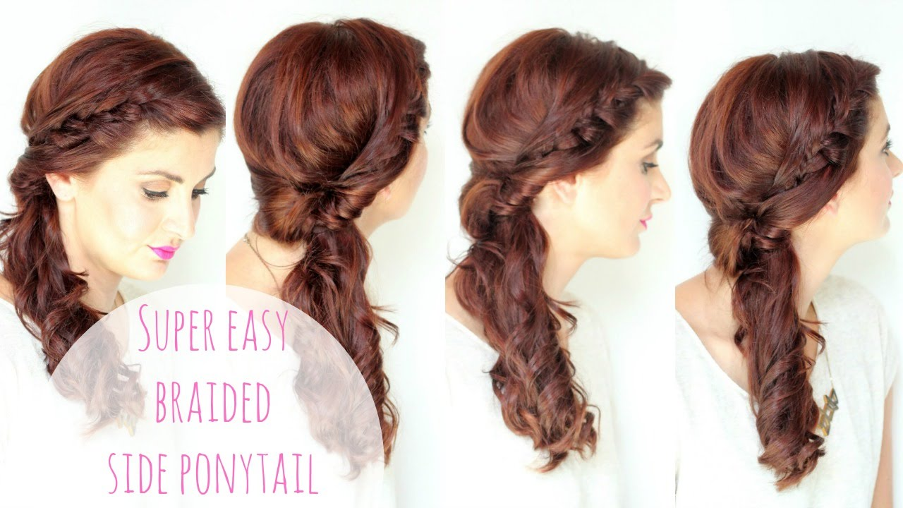 Simple Side Braided Hairstyle Youtube